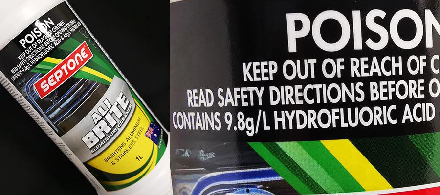 フッ化水素酸を含むカーケア溶剤