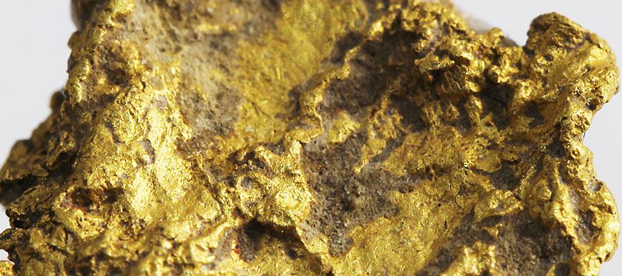 自然金に付着している土