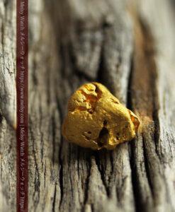 2.44gのおにぎりのようなコロコロした形の自然金-G0452-1
