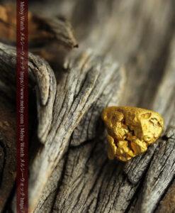 2.44gのおにぎりのようなコロコロした形の自然金-G0452-2