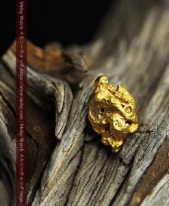 3.54gの複雑な凹凸ある形の綺麗な色合いの自然金-G0454-1