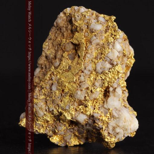 14.32gのまだら模様のように石英と金が入り組んでいる自然金-G0455-1