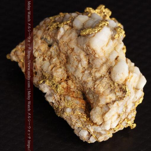 14.32gのまだら模様のように石英と金が入り組んでいる自然金-G0455-15