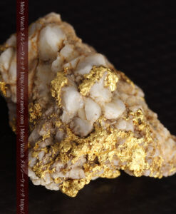 14.32gのまだら模様のように石英と金が入り組んでいる自然金-G0455-17