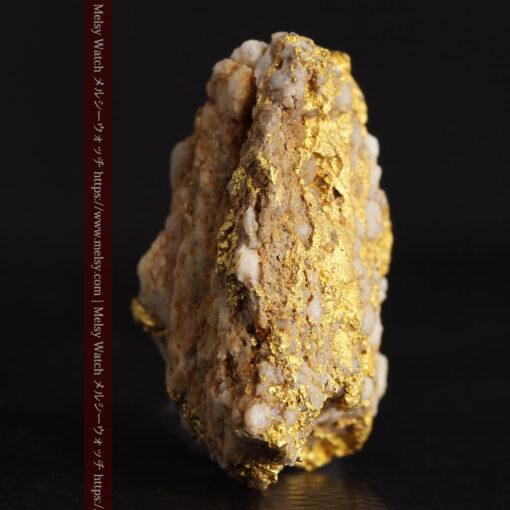 14.32gのまだら模様のように石英と金が入り組んでいる自然金-G0455-3