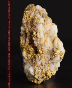 14.32gのまだら模様のように石英と金が入り組んでいる自然金-G0455-4