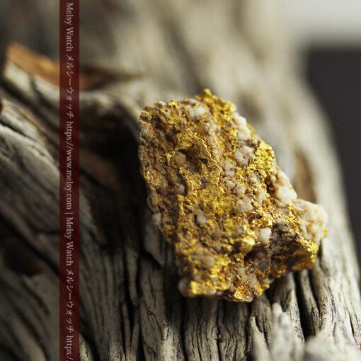 14.32gのまだら模様のように石英と金が入り組んでいる自然金-G0455-5