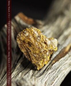 14.32gのまだら模様のように石英と金が入り組んでいる自然金-G0455-6
