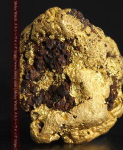 27.76gの鉄などを含む野趣あふれる大粒の自然金-G0456-1