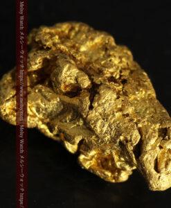 4.5gの細長い三角で複雑な深みのある形の自然金-G0462-12