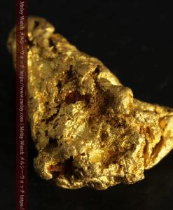 4.5gの細長い三角で複雑な深みのある形の自然金-G0462-14