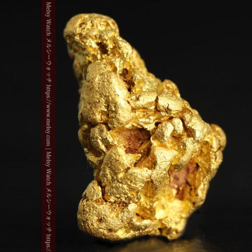 4.5gの細長い三角で複雑な深みのある形の自然金-G0462-3