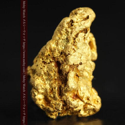 4.5gの細長い三角で複雑な深みのある形の自然金-G0462-4