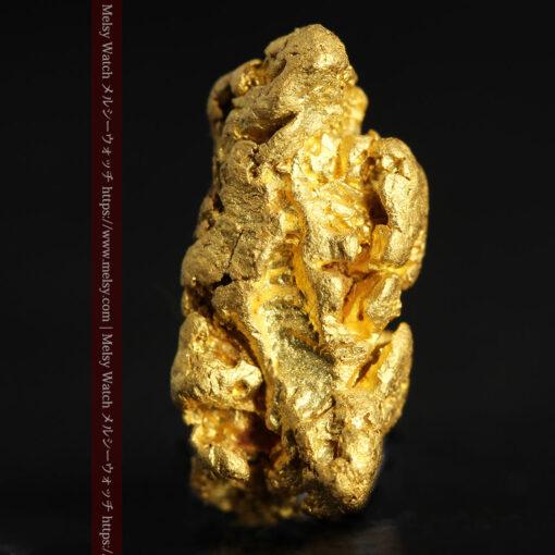 4.5gの細長い三角で複雑な深みのある形の自然金-G0462-5