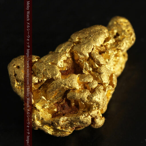 4.5gの細長い三角で複雑な深みのある形の自然金-G0462-7