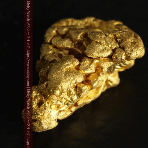 4.5gの細長い三角で複雑な深みのある形の自然金-G0462-8
