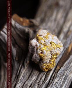 11.40gの複雑に交わる大粒の石英と自然金-G0463-3