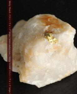 23.9gの大きな石英に食い込まれている自然金-G0472-5