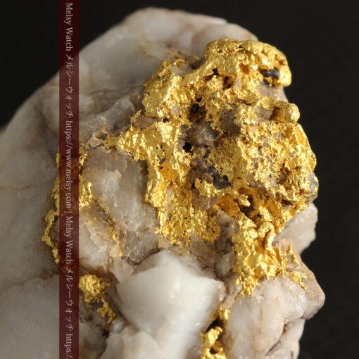 34.1gの大きな自然金から湧き出すような自然金-G0473-1