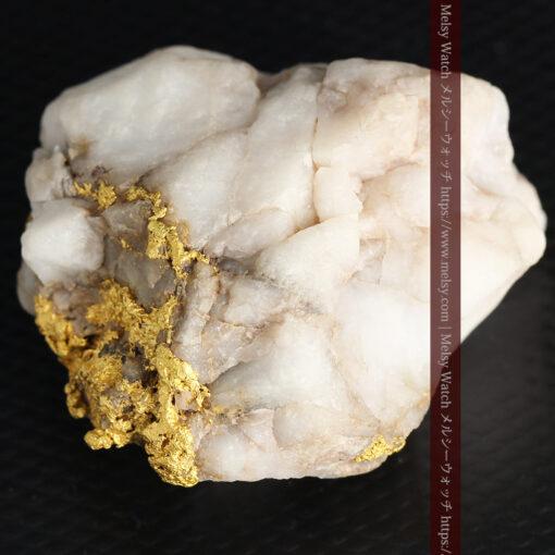 34.1gの大きな自然金から湧き出すような自然金-G0473-10