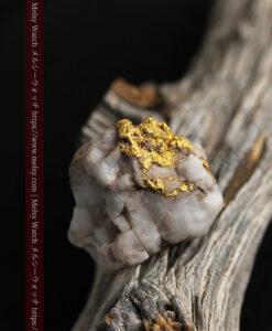 34.1gの大きな自然金から湧き出すような自然金-G0473-3