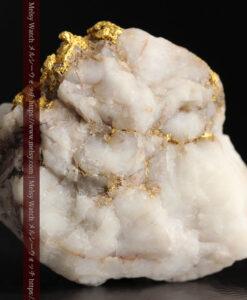 34.1gの大きな自然金から湧き出すような自然金-G0473-6