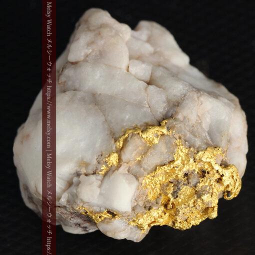 34.1gの大きな自然金から湧き出すような自然金-G0473-9