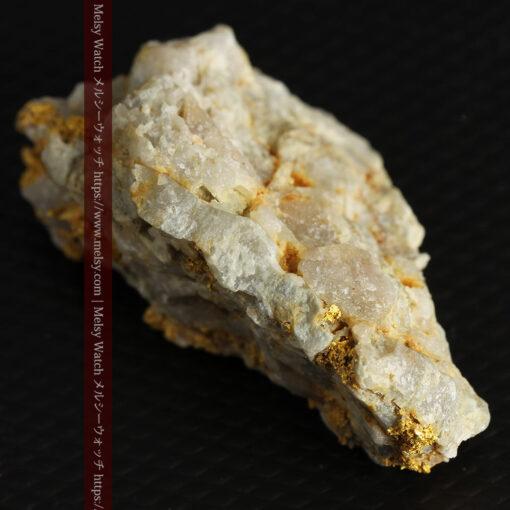 14.9gの石英の中に入り混じる特殊な姿の自然金-G0474-10