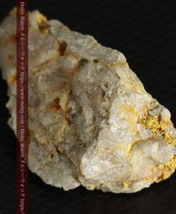 14.9gの石英の中に入り混じる特殊な姿の自然金-G0474-12