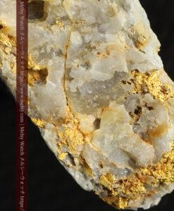 14.9gの石英の中に入り混じる特殊な姿の自然金-G0474-14