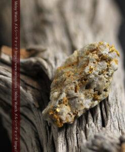 14.9gの石英の中に入り混じる特殊な姿の自然金-G0474-15