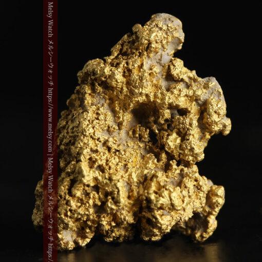 8.4gの石英の粒などインクルージョンの面白い自然金-G0476-1