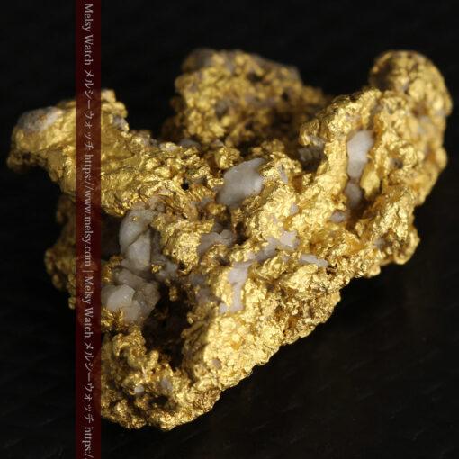 8.4gの石英の粒などインクルージョンの面白い自然金-G0476-11