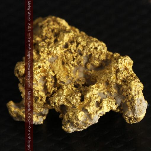 8.4gの石英の粒などインクルージョンの面白い自然金-G0476-6