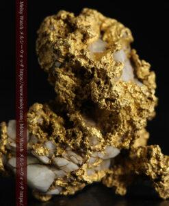 11.1gの海岸のカメノテのような石英を含んだ自然金-G0477-1