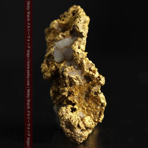 11.1gの海岸のカメノテのような石英を含んだ自然金-G0477-3