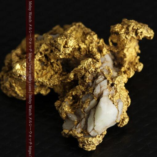 11.1gの海岸のカメノテのような石英を含んだ自然金-G0477-5