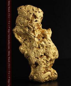 97.3gと超大型の色と形の美しい自然金-g0239-1