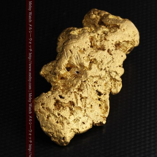 97.3gと超大型の色と形の美しい自然金-g0239-12