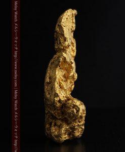 97.3gと超大型の色と形の美しい自然金-g0239-3