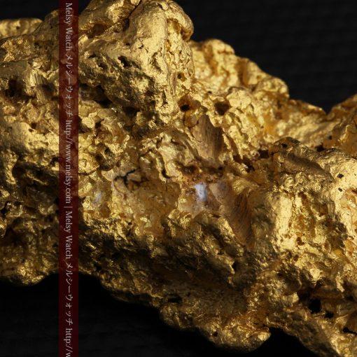 97.3gと超大型の色と形の美しい自然金-g0239-34