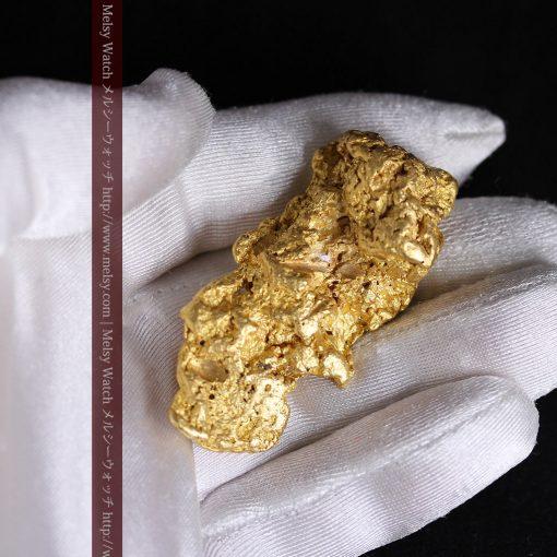 97.3gと超大型の色と形の美しい自然金-g0239-6