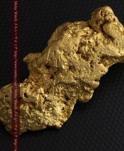 97.3gと超大型の色と形の美しい自然金-g0239-9