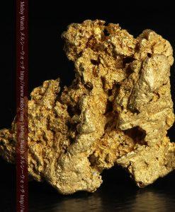 16.45gの自立する狛犬のような姿の自然金-g249-1