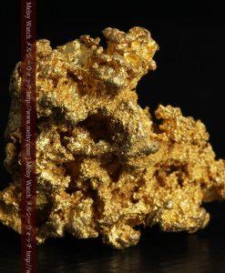 16.45gの自立する狛犬のような姿の自然金-g249-2