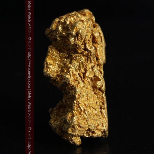 16.45gの自立する狛犬のような姿の自然金-g249-3