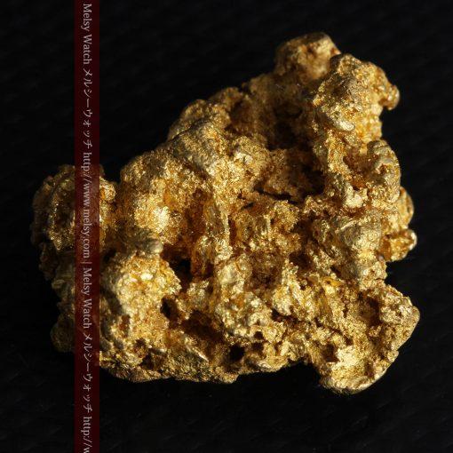 16.45gの自立する狛犬のような姿の自然金-g249-5