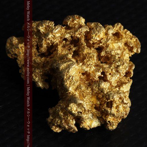 16.45gの自立する狛犬のような姿の自然金-g249-6