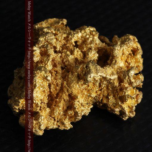 16.45gの自立する狛犬のような姿の自然金-g249-7