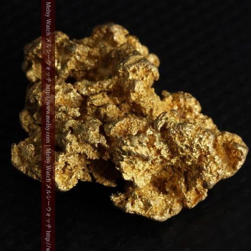 16.45gの自立する狛犬のような姿の自然金-g249-8